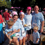 I can't express my gratitude to the friends and family who showed up to take part Saturday in my Race for the Cure team.