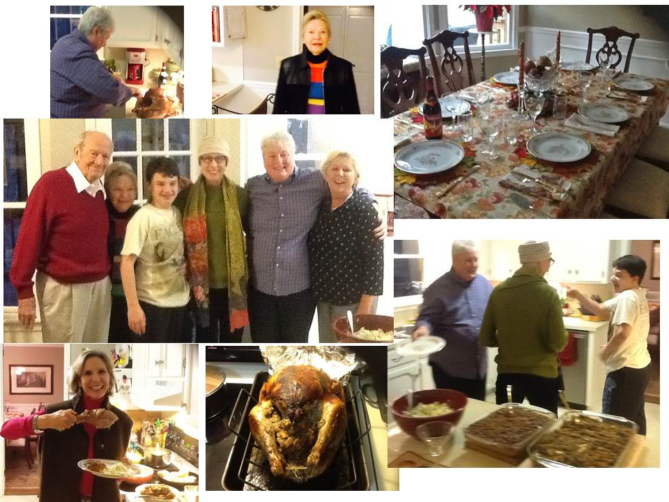 """My sister, Deb, hosted Thanksgiving this year and as you might expect, it was even more special than usual. A lovely table, a perfect bird, joking in the kitchen with family as we piled plates high with favorite foods; there were plenty of  """"Hallmark moments"""" in a day made all the more meaningful by my beloved aunt and uncle being there to share it. That day and every day I give thanks for the family, friends coworkers and caregivers in my life whose support on this journey has meant so much to me."""