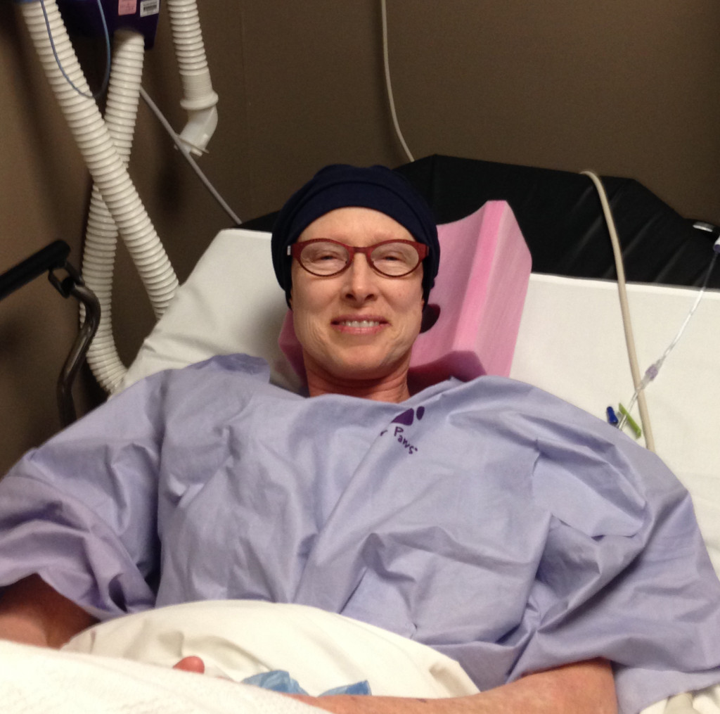Feeling positive on Jan. 14, just before my surgery.